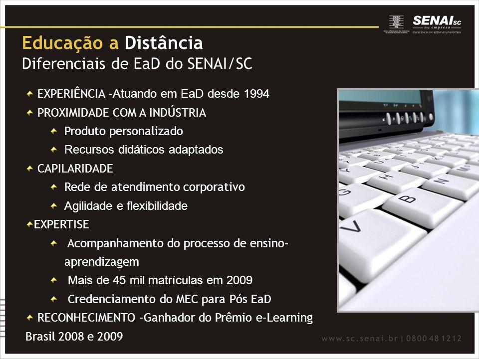 Educação a Distância Diferenciais de EaD do SENAI/SC