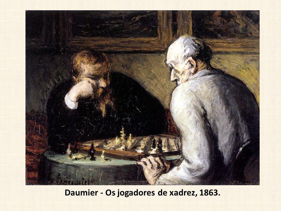 Daumier - Os jogadores de xadrez, 1863.