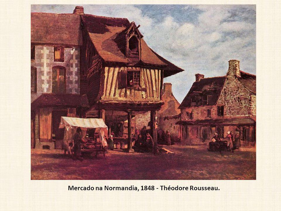 Mercado na Normandia, 1848 - Théodore Rousseau.