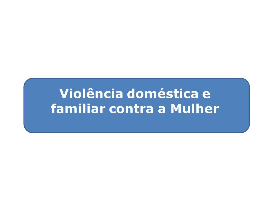 Violência doméstica e familiar contra a Mulher