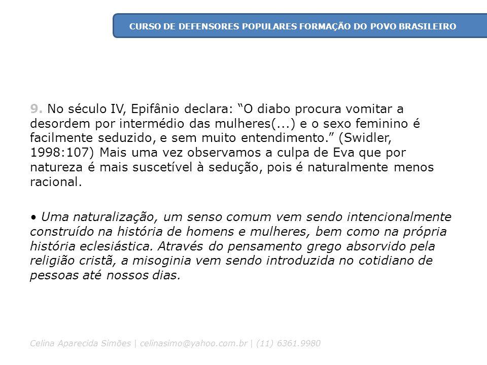 CURSO DE DEFENSORES POPULARES FORMAÇÃO DO POVO BRASILEIRO