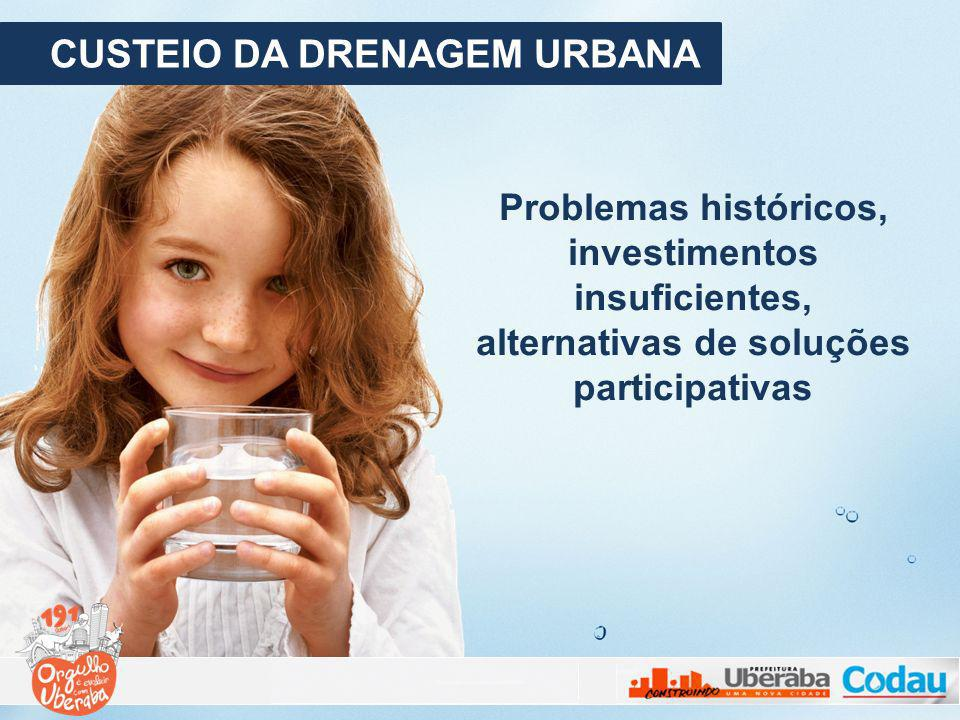 CUSTEIO DA DRENAGEM URBANA