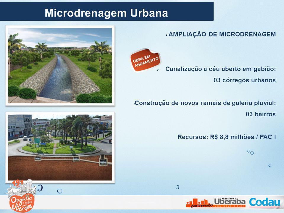 Microdrenagem Urbana AMPLIAÇÃO DE MICRODRENAGEM