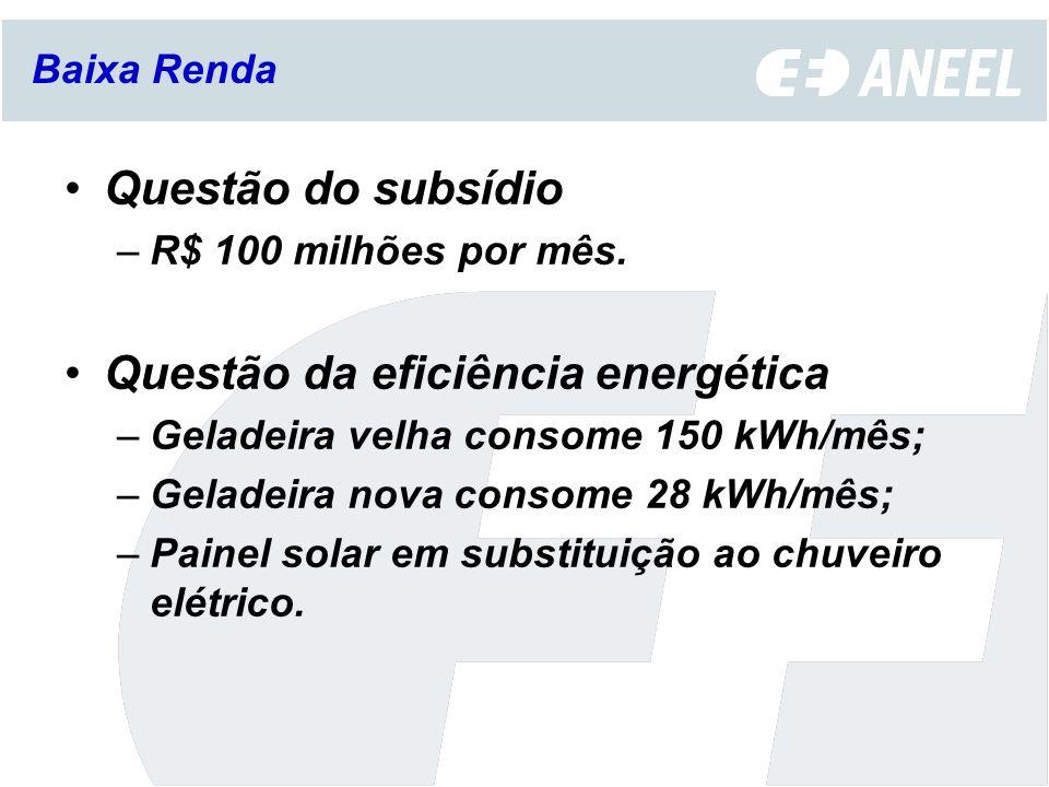 Questão da eficiência energética