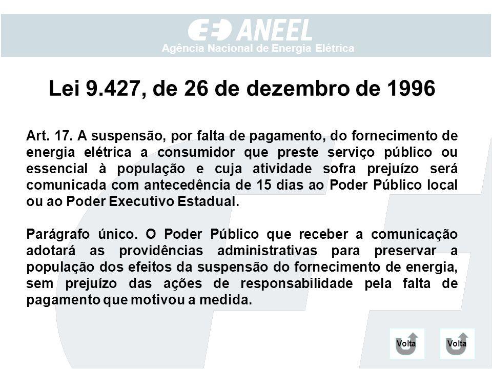 Lei 9.427, de 26 de dezembro de 1996