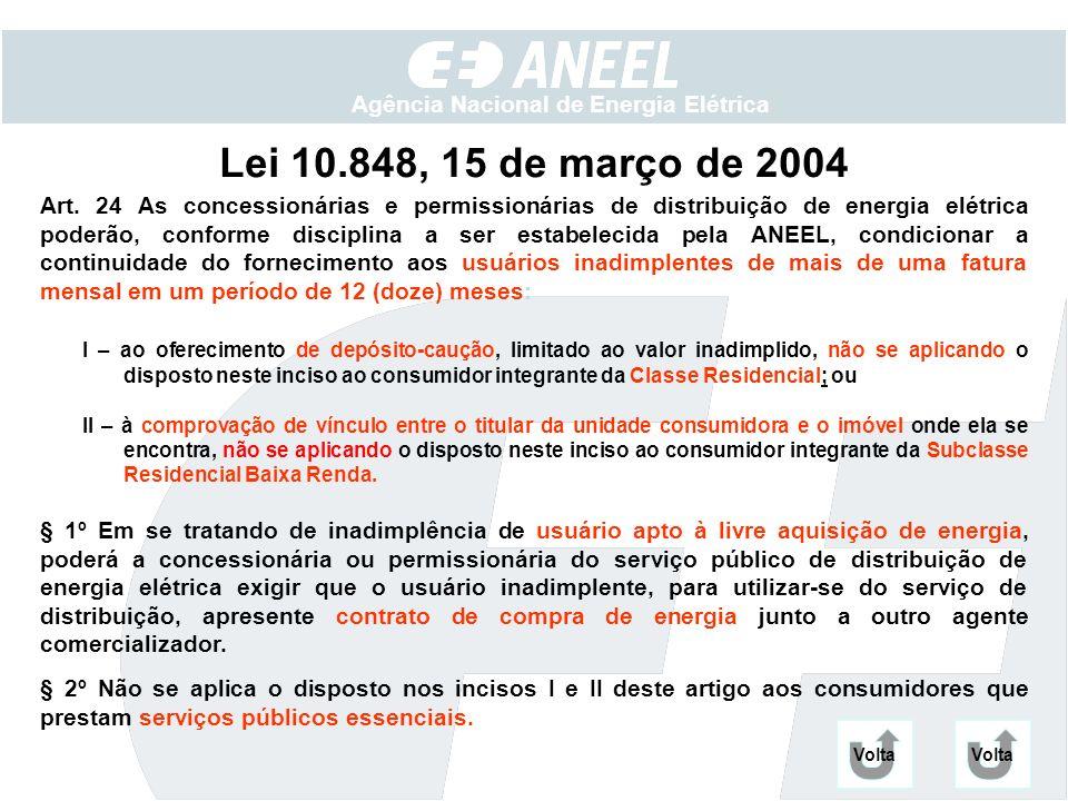 Lei 10.848, 15 de março de 2004