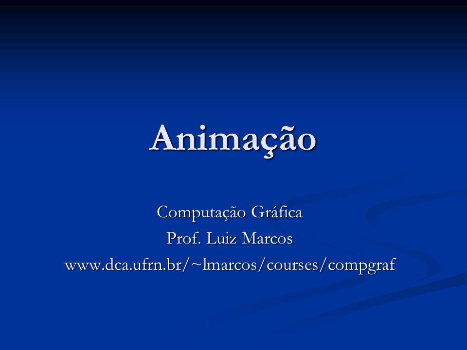 Animação Computação Gráfica Prof. Luiz Marcos