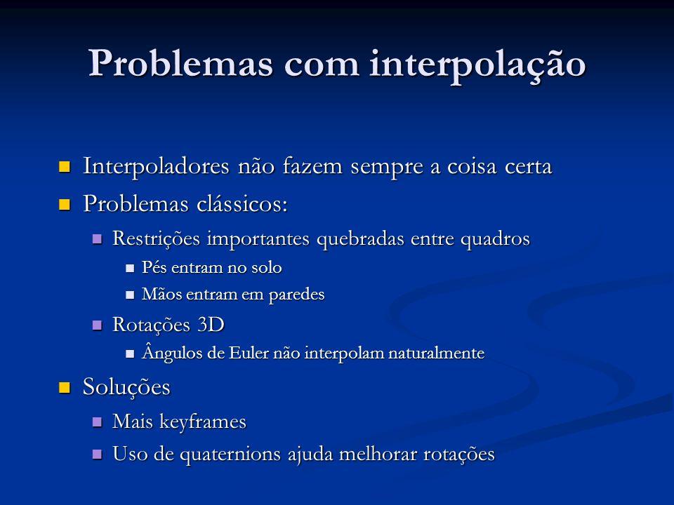 Problemas com interpolação