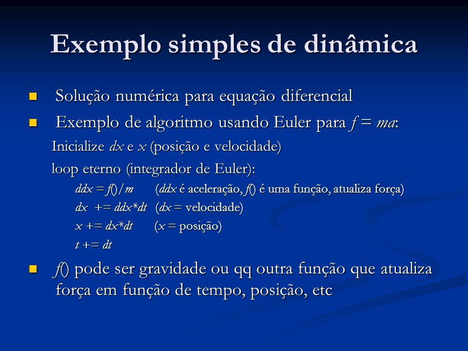 Exemplo simples de dinâmica