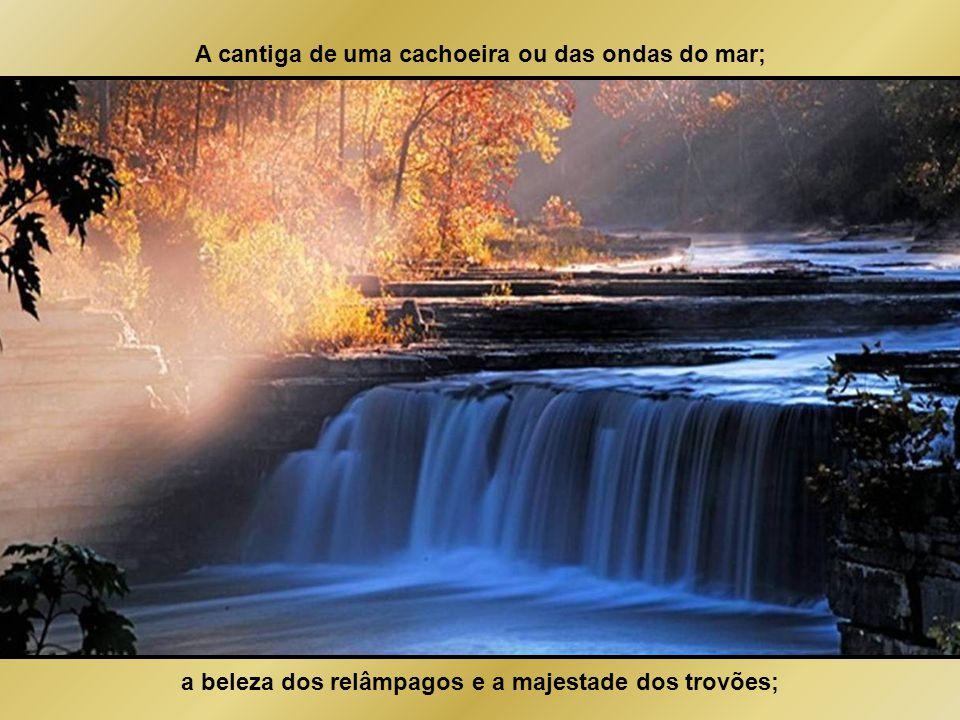 A cantiga de uma cachoeira ou das ondas do mar;