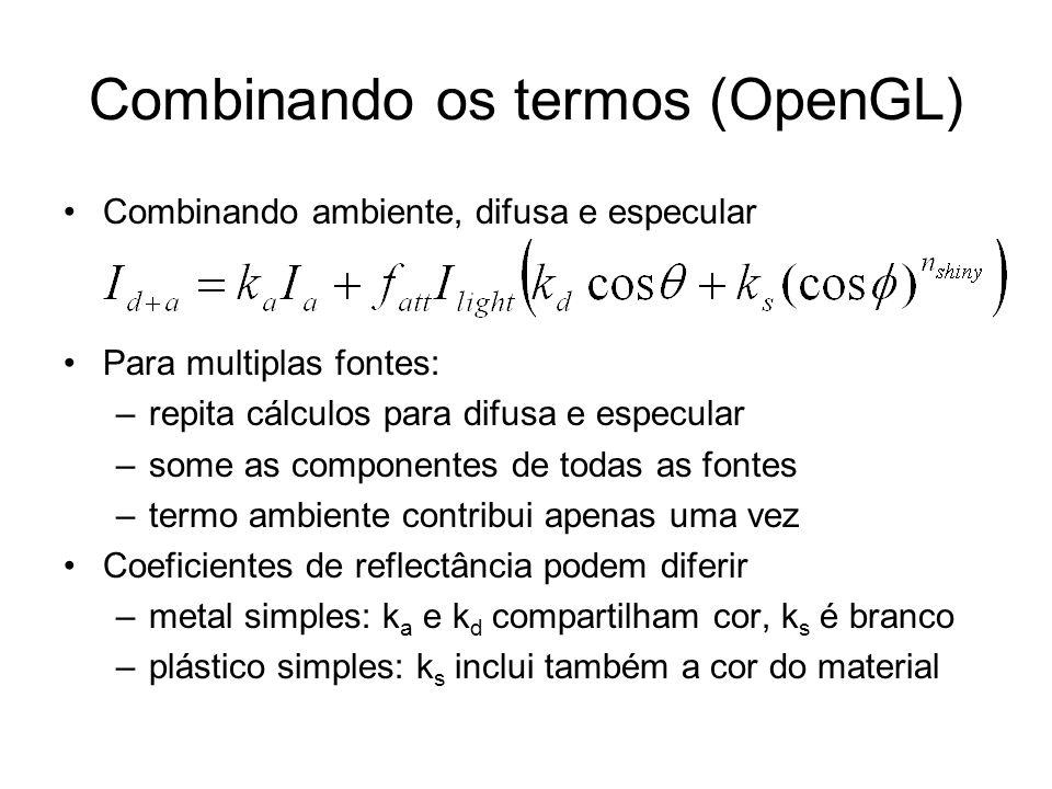 Combinando os termos (OpenGL)