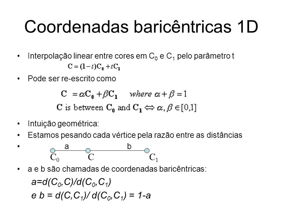 Coordenadas baricêntricas 1D