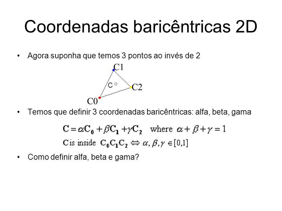 Coordenadas baricêntricas 2D