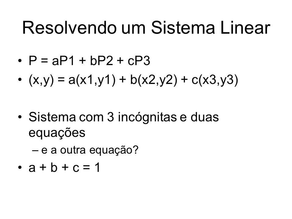 Resolvendo um Sistema Linear