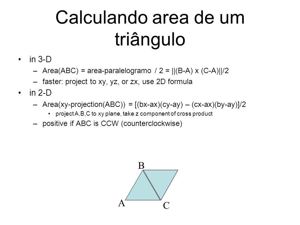 Calculando area de um triângulo