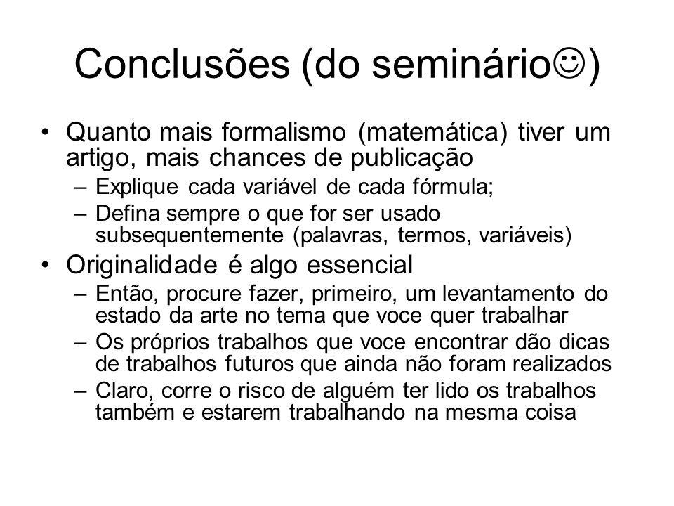 Conclusões (do seminário)