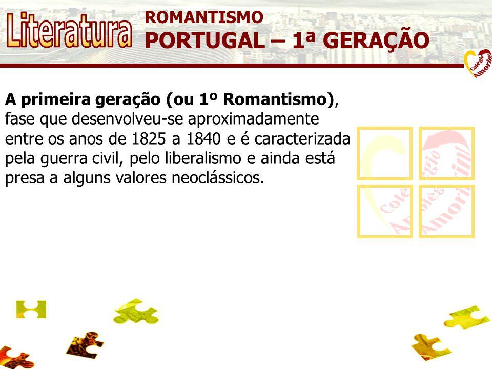 Literatura PORTUGAL – 1ª GERAÇÃO ROMANTISMO
