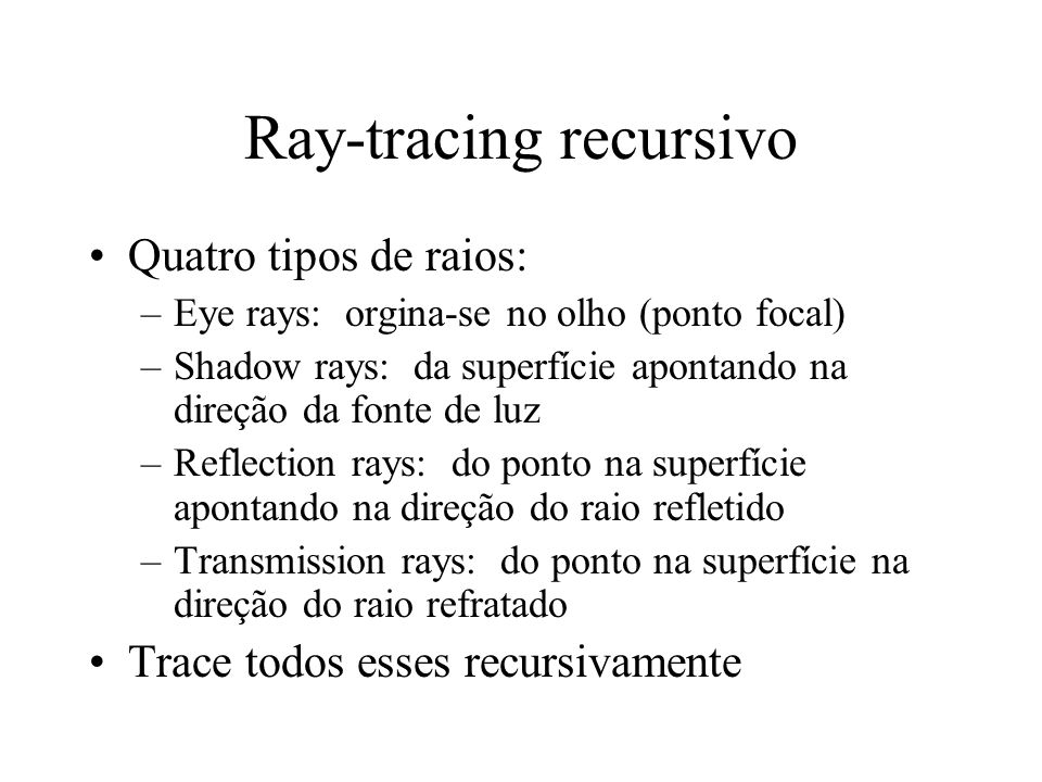 Ray-tracing recursivo