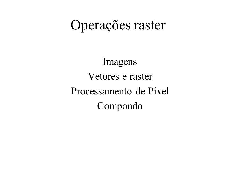 Imagens Vetores e raster Processamento de Pixel Compondo