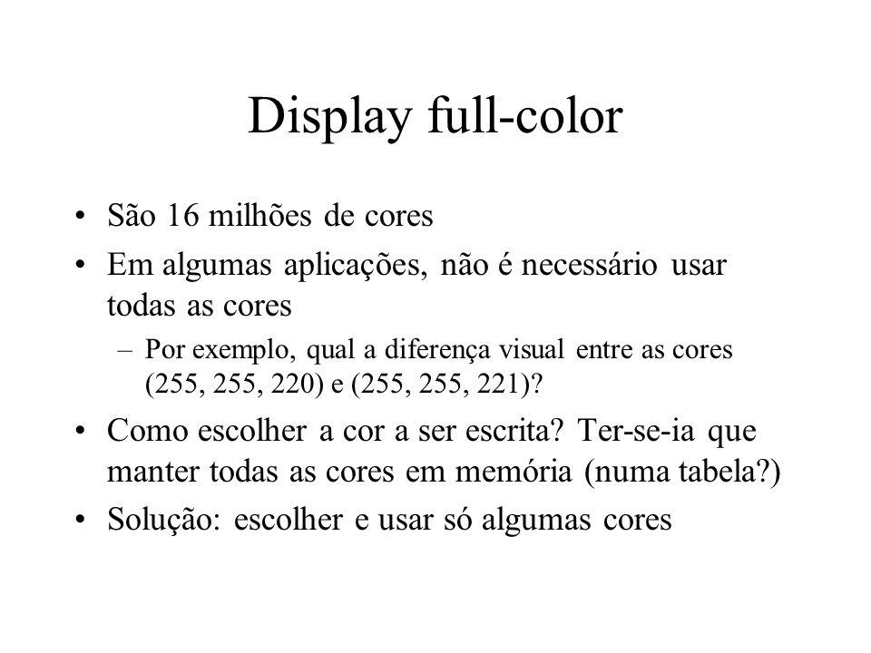 Display full-color São 16 milhões de cores