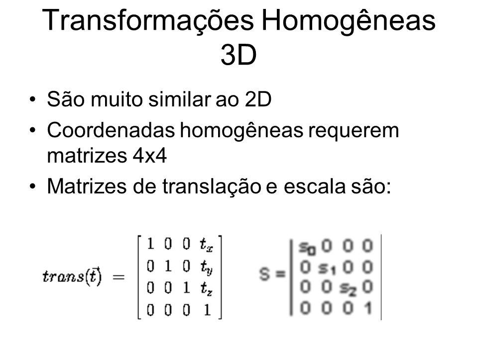 Transformações Homogêneas 3D