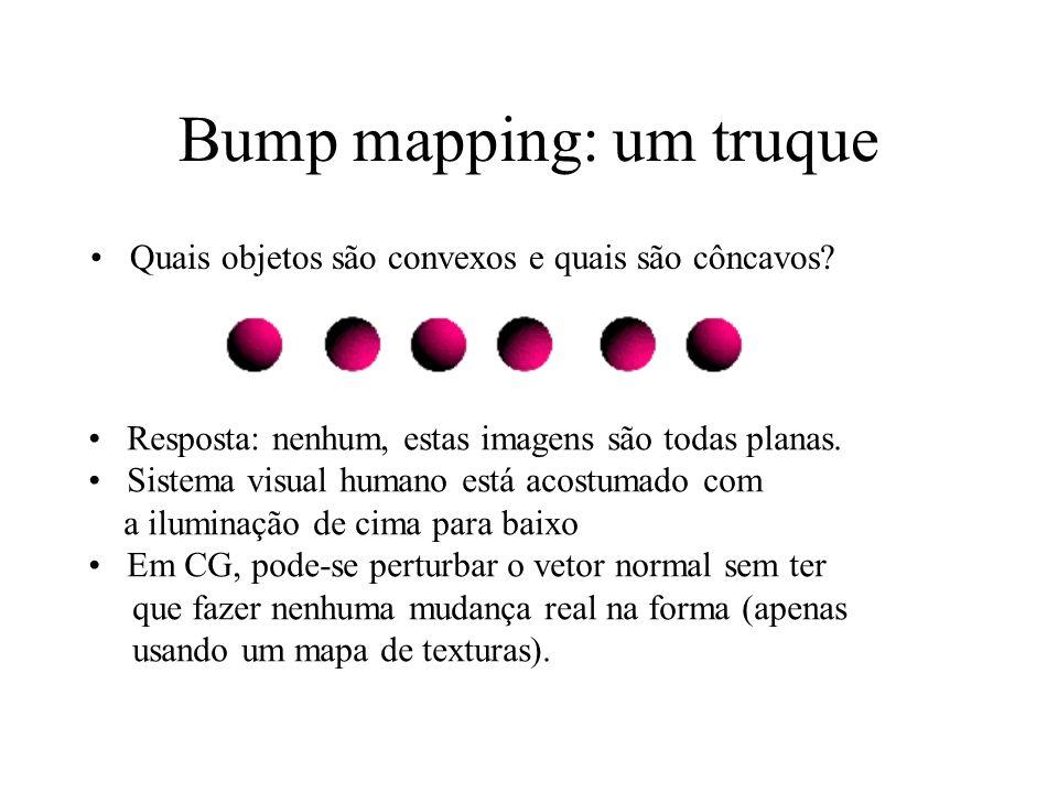 Bump mapping: um truque