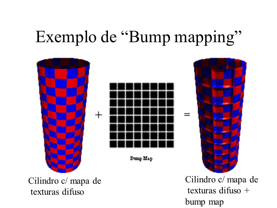 Exemplo de Bump mapping