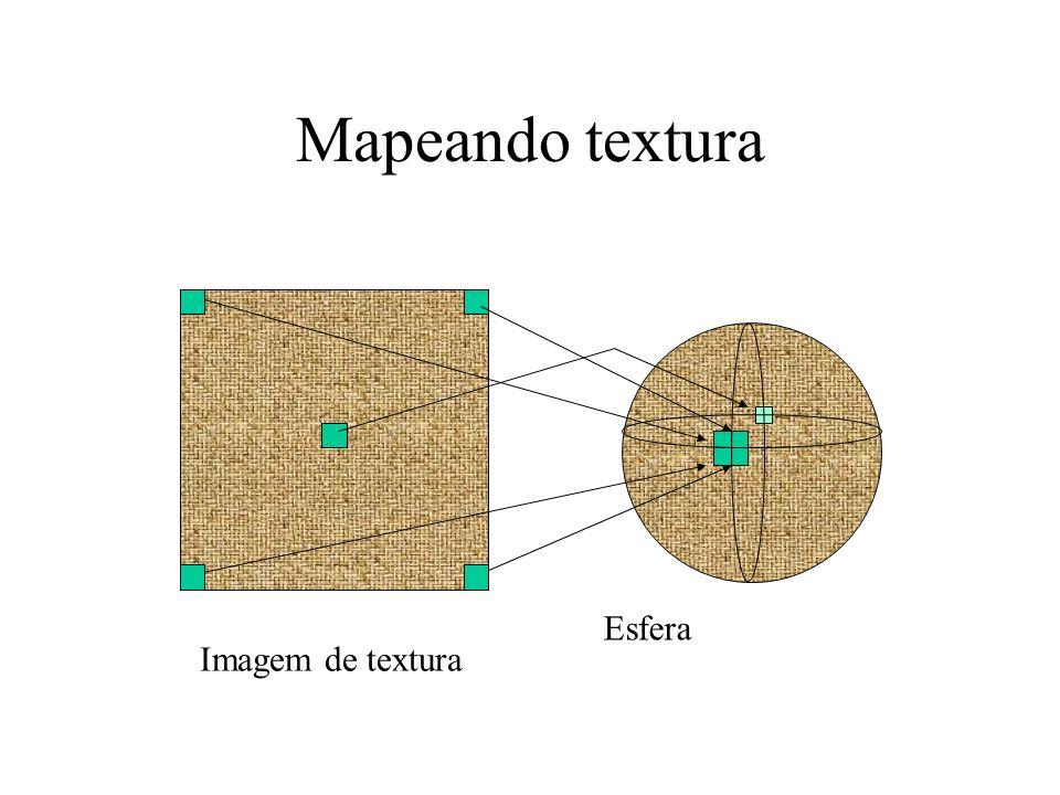 Mapeando textura Esfera Imagem de textura