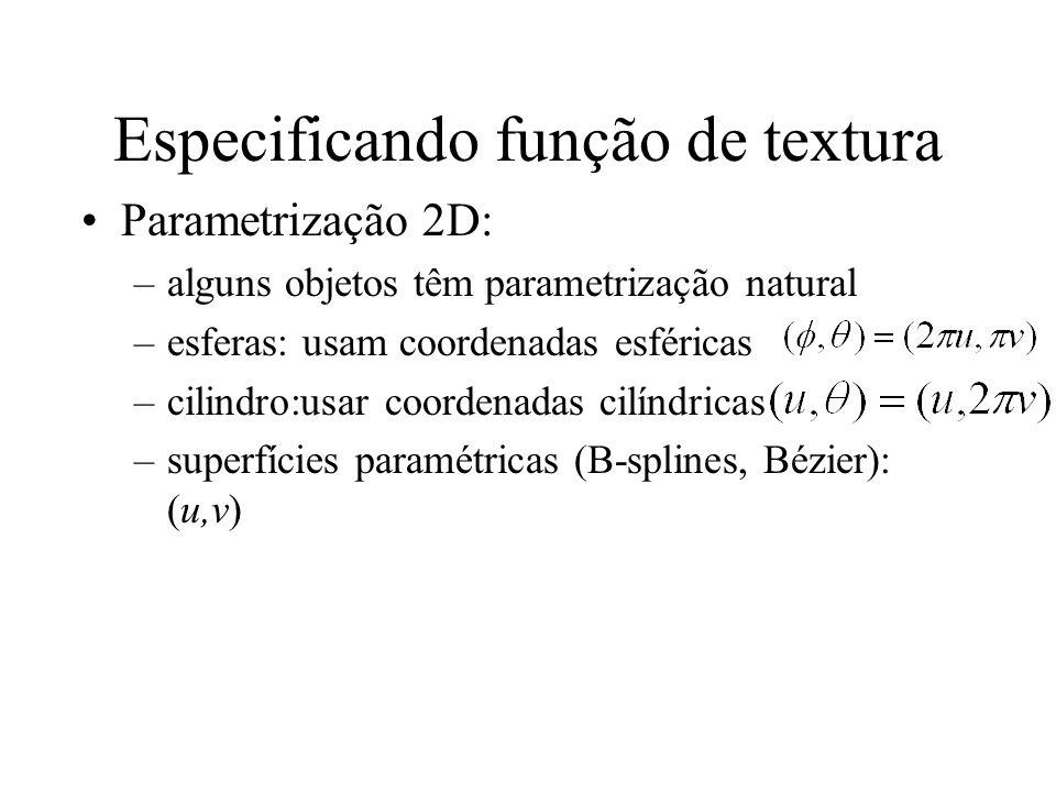 Especificando função de textura