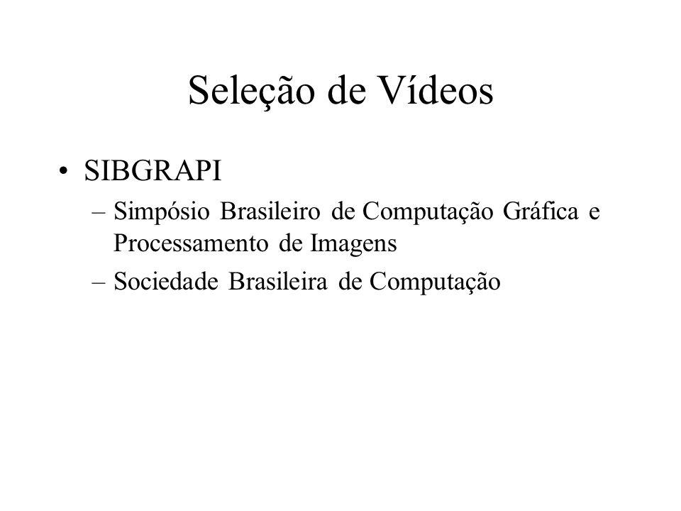 Seleção de Vídeos SIBGRAPI