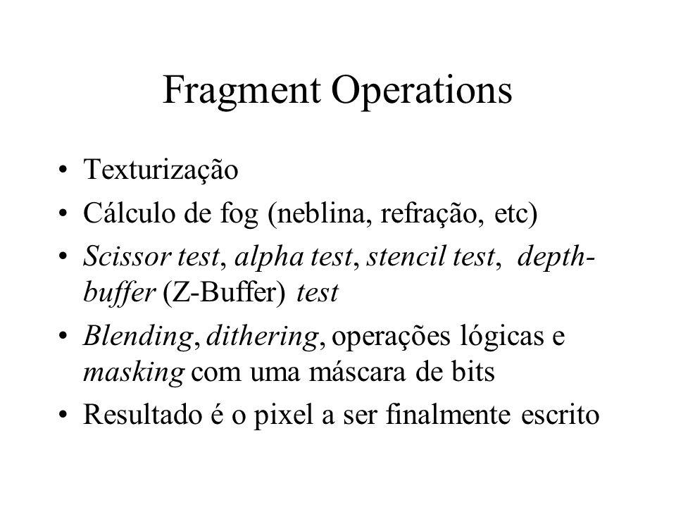 Fragment Operations Texturização