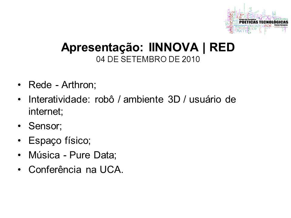 Apresentação: IINNOVA | RED 04 DE SETEMBRO DE 2010
