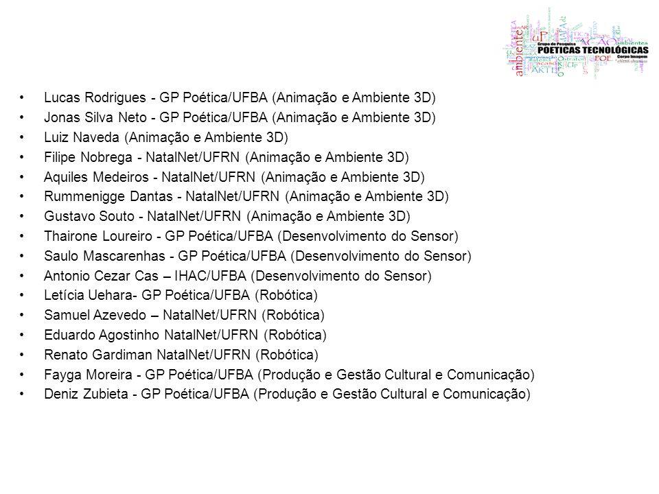 Lucas Rodrigues - GP Poética/UFBA (Animação e Ambiente 3D)