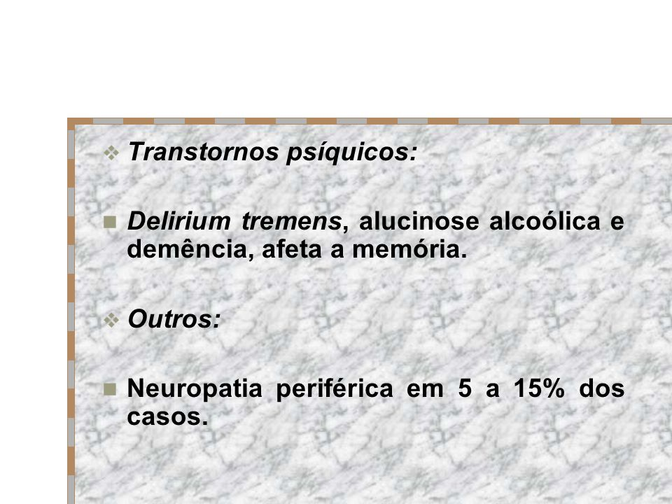 Transtornos psíquicos: