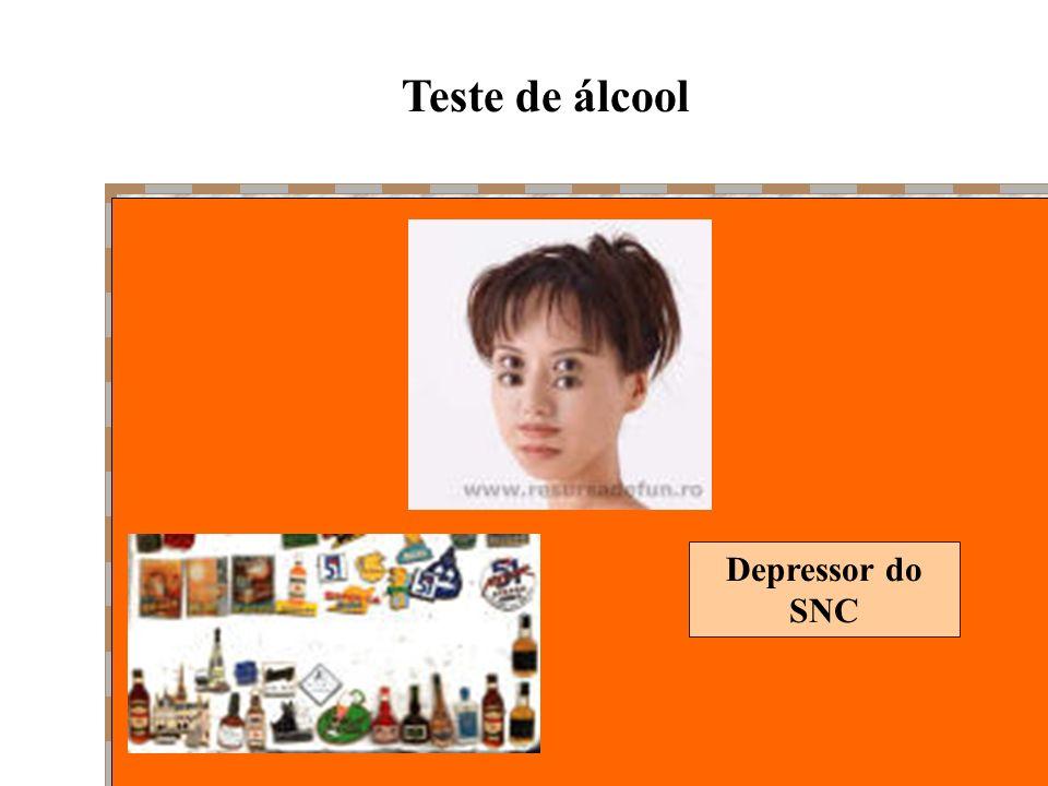 Teste de álcool Depressor do SNC