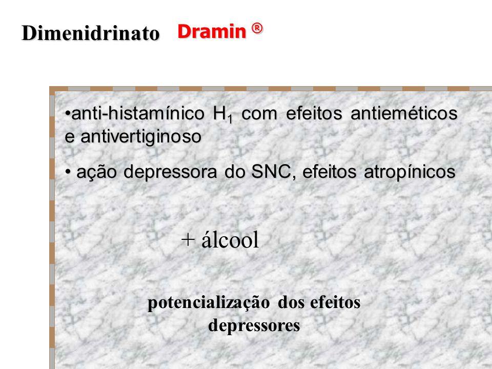 potencialização dos efeitos depressores