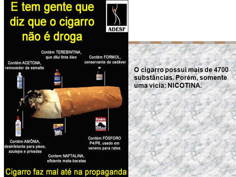 O cigarro possui mais de 4700 substâncias