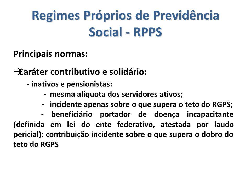 Regimes Próprios de Previdência Social - RPPS