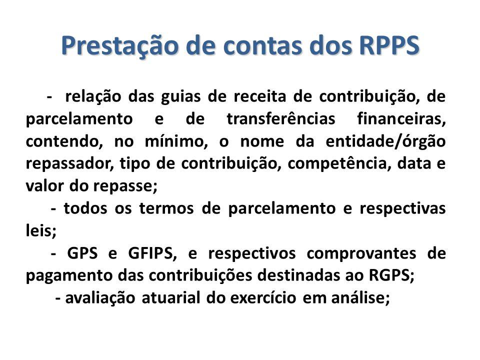 Prestação de contas dos RPPS