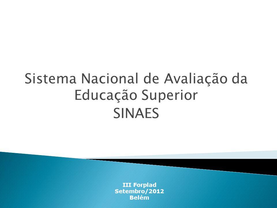 Sistema Nacional de Avaliação da Educação Superior SINAES
