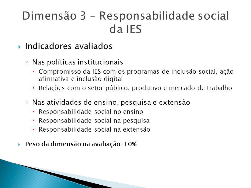 Dimensão 3 – Responsabilidade social da IES