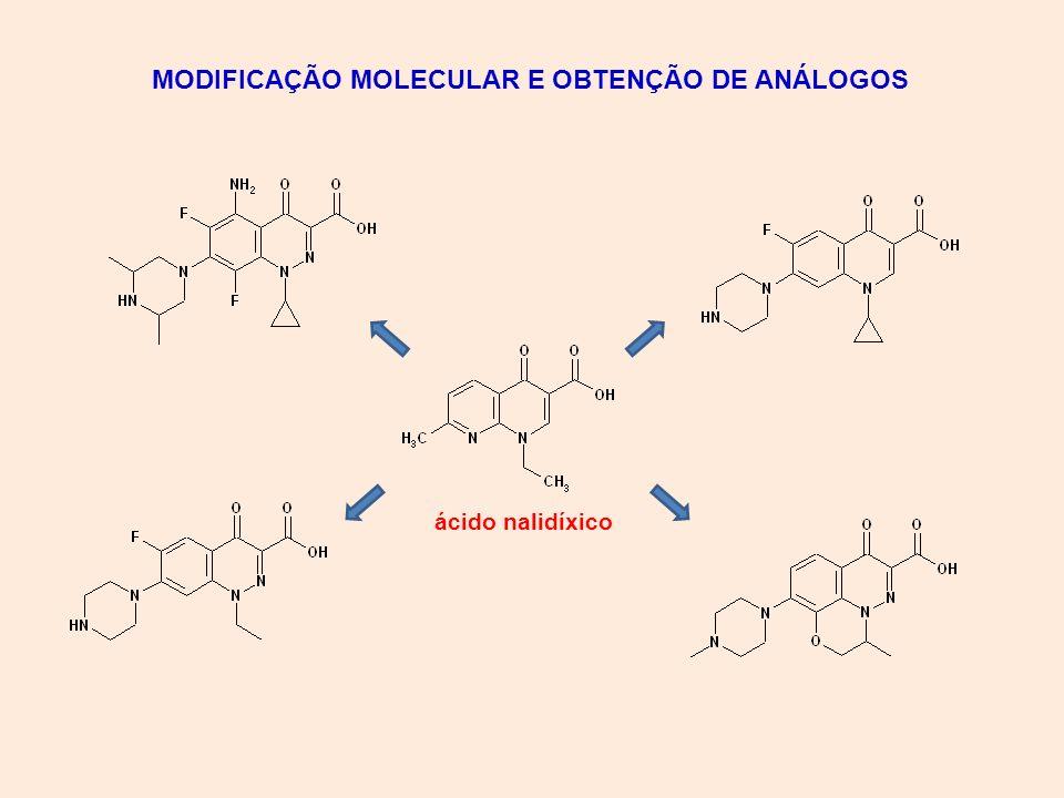 MODIFICAÇÃO MOLECULAR E OBTENÇÃO DE ANÁLOGOS
