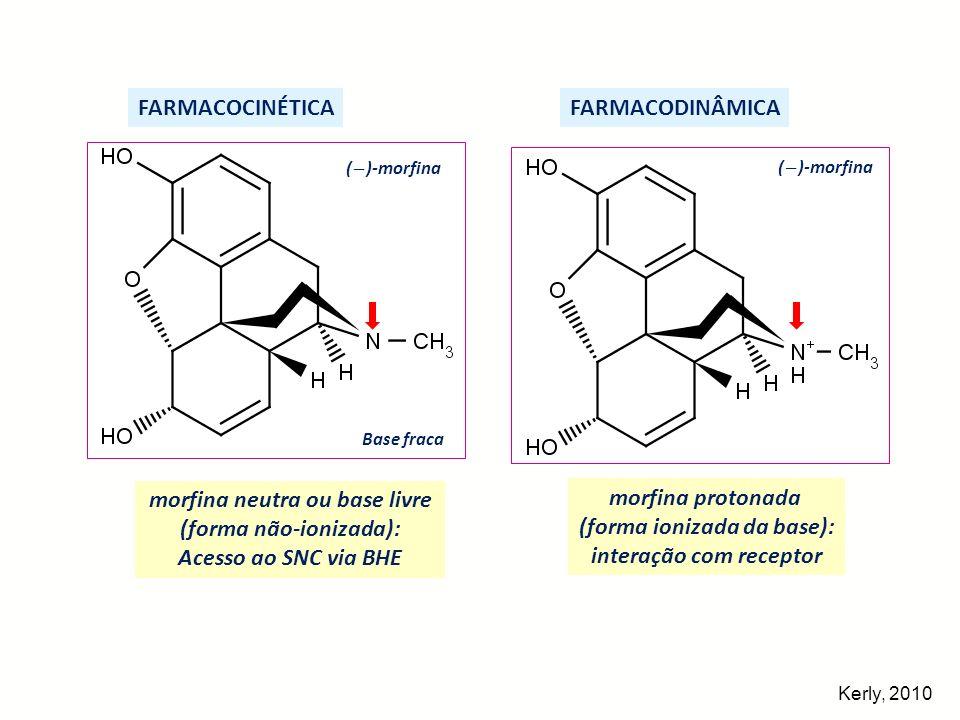morfina neutra ou base livre (forma não-ionizada):