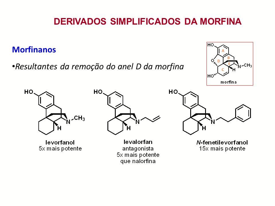 DERIVADOS SIMPLIFICADOS DA MORFINA