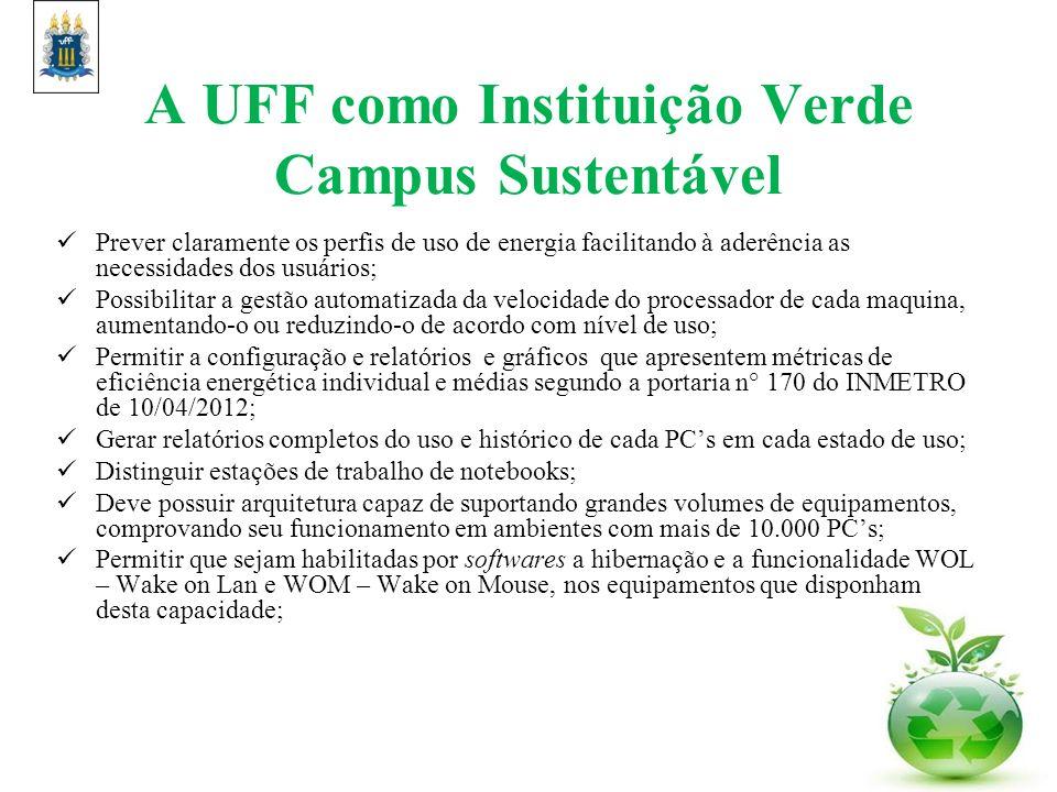A UFF como Instituição Verde Campus Sustentável