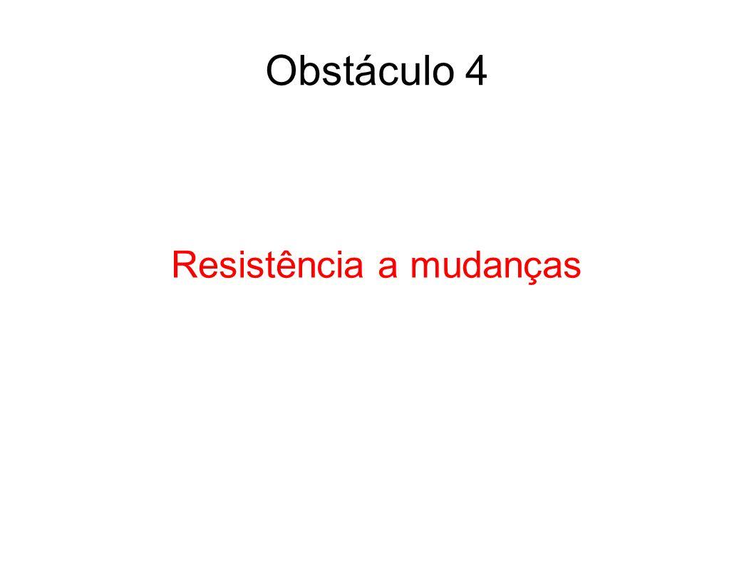 Resistência a mudanças