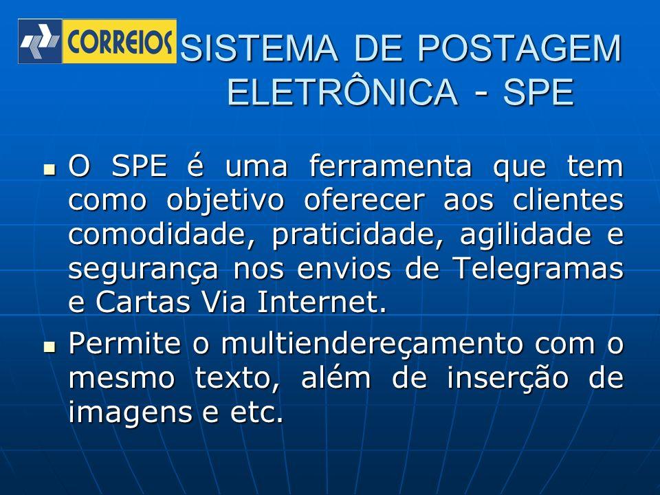 SISTEMA DE POSTAGEM ELETRÔNICA - SPE