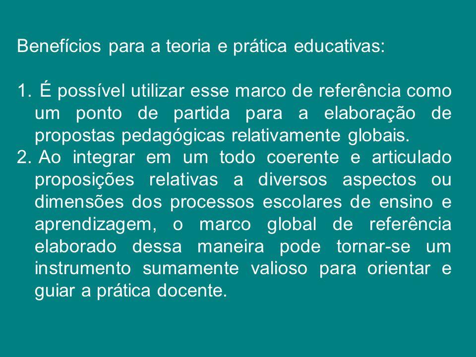 Benefícios para a teoria e prática educativas: