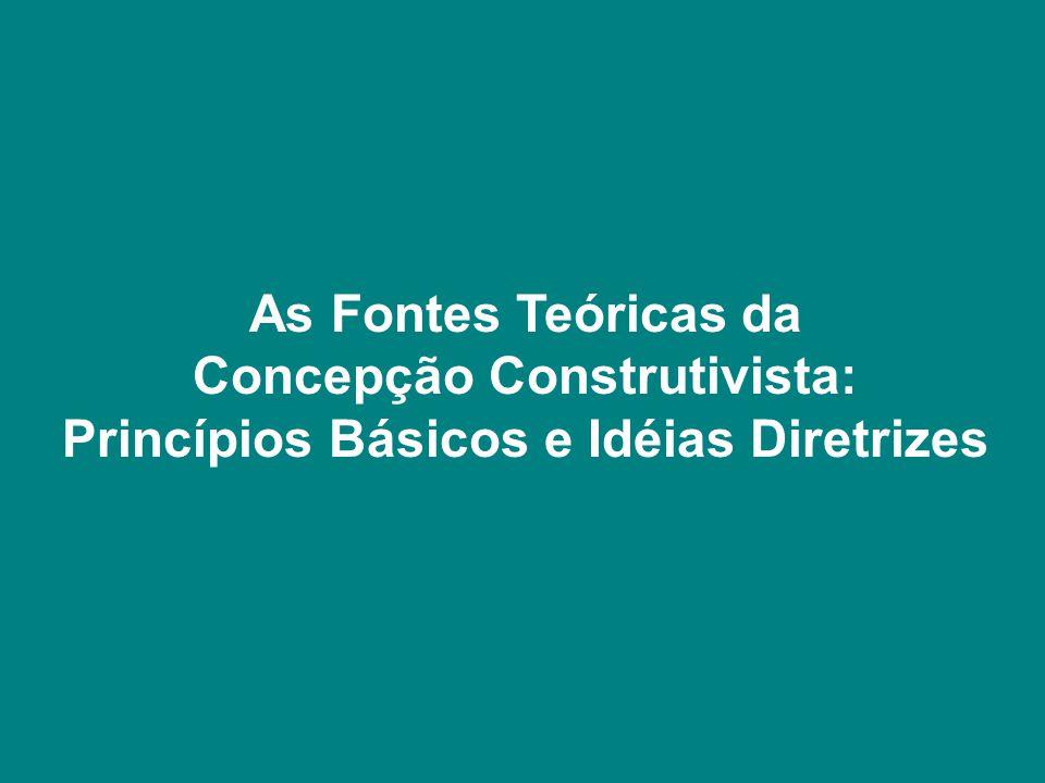 Concepção Construtivista: Princípios Básicos e Idéias Diretrizes