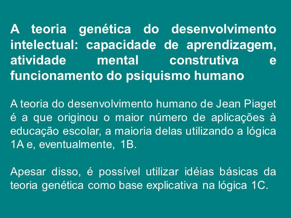 A teoria genética do desenvolvimento intelectual: capacidade de aprendizagem, atividade mental construtiva e funcionamento do psiquismo humano